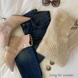 ANDREA JOVINE chunky knit v-neck sweater